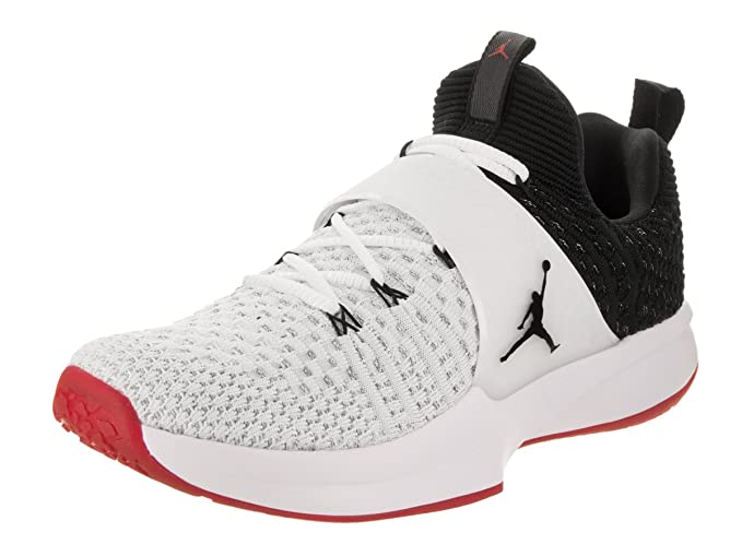 cd31233826d Image Unavailable. Image not available for. Color  Nike New Jordan Trainer  2 Flyknit Men s 12 Shoes Black White Red ...