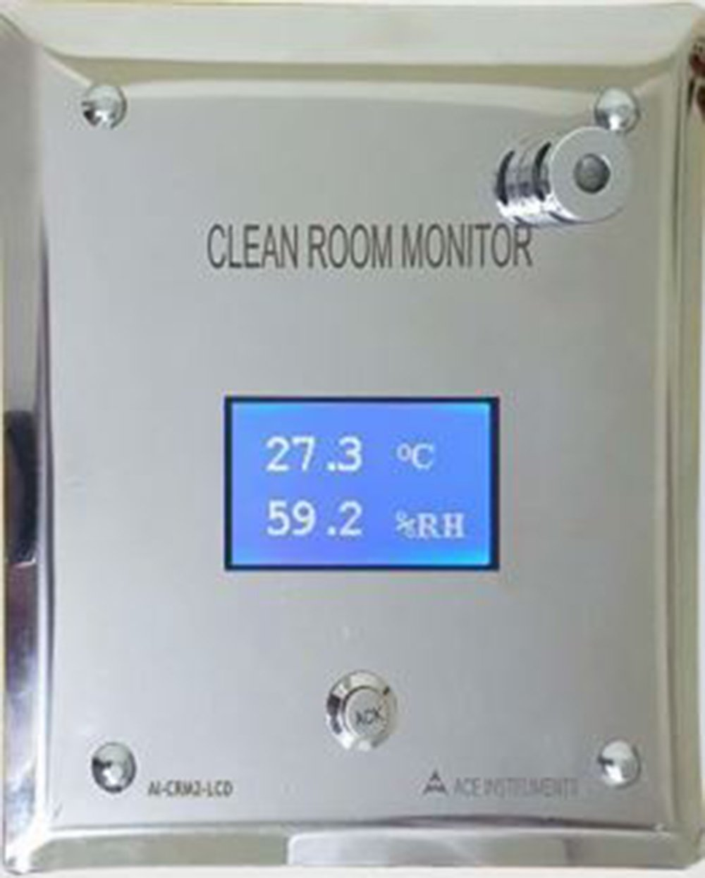 Ace Instruments AI-CRM2-LCD External Sensor Clean Room monitor Humidity Temperature along with Calibration Certificate