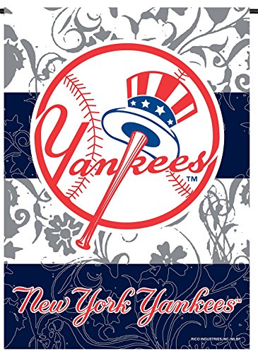 New York Yankees Rico Premium 2-sided GARDEN Flag Outdoor House Banner (Yankees Garden)