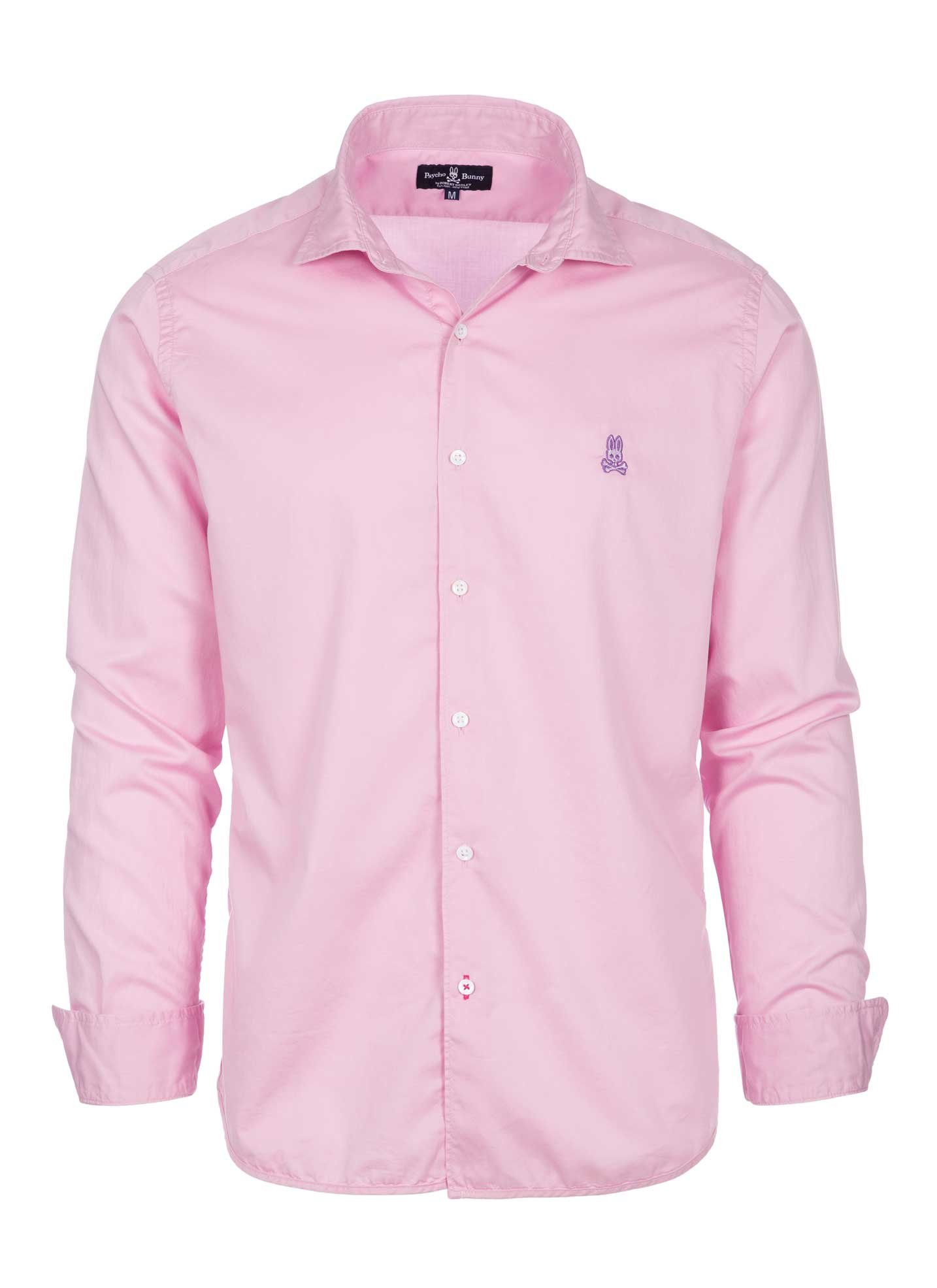 Psycho Bunny Men's Cotton Sport Shirt (Pinkle, XL)