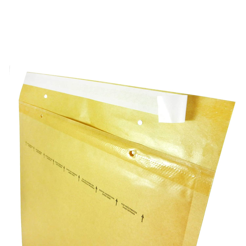 confezione da 100 pezzi di buste imbottite a bolle daria confezione da 20 Triplast 90 x 145 mm colore: bianco