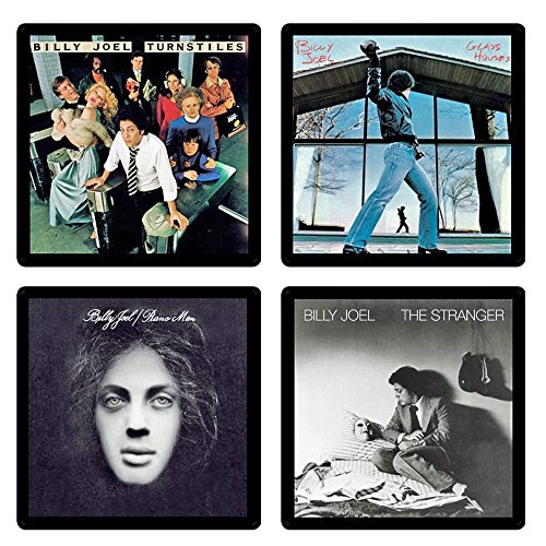 Billy Joel Collectible Coaster Gift Set #1 ~ (4) Different Album Covers Reproduced on Soft Pliable Coasters
