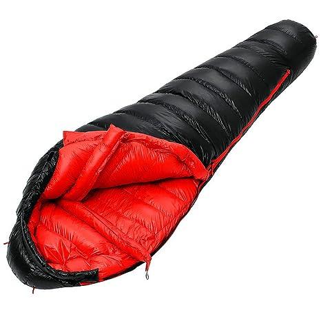 Impermeable de peso ligero Saco de dormir grueso acampar acampar momificado caliente portátil saco de dormir