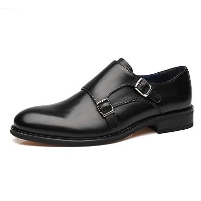 f1e8f59793e La Milano Mens Leather Double Monk Strap Oxford Slip-on Loafer Comfortable  Formal Business Work