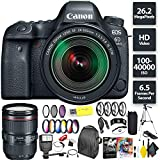 Canon EOS 6D Mark II DSLR Camera + 24-105mm f/3.5-5.6 Lens + Canon 24-105mm Lens Zoom Combo