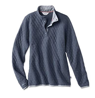 8e684436b1 Orvis Women s Outdoor Quilted Snap Sweatshirt at Amazon Women s ...