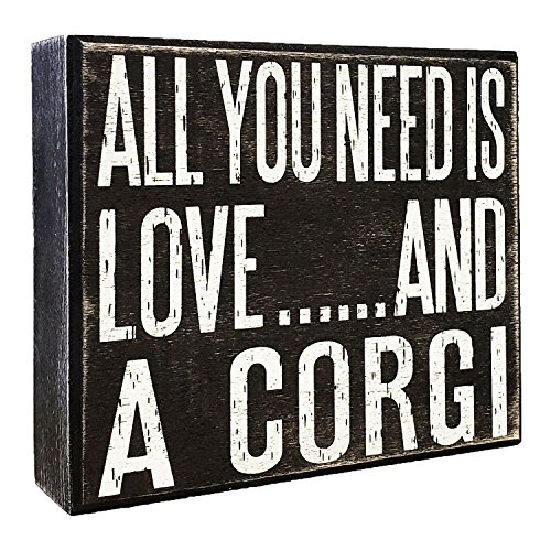 JennyGems - All You Need is Love and a Corgi - Wooden Stand Up Box Sign - Corgi Gift Series, Corgi Moms and Owners, Corgi Lovers]()