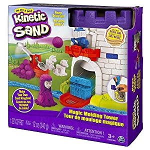 The One and Only Kinetic Sand, Magic Molding Tower Playset with 12oz of Kinetic Sand, for Ages 3 and Up (Kinetic Sand-Magic Molding)