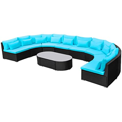 Amazon.com : Daonanba Durable Luxurious XXL Garden Sofa Set ...