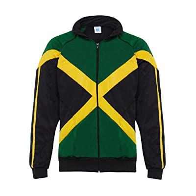 Authentic Jamaican Long Sleeved, Reggae Zip Up Jacket - Unisex (Black, Green and Yellow)