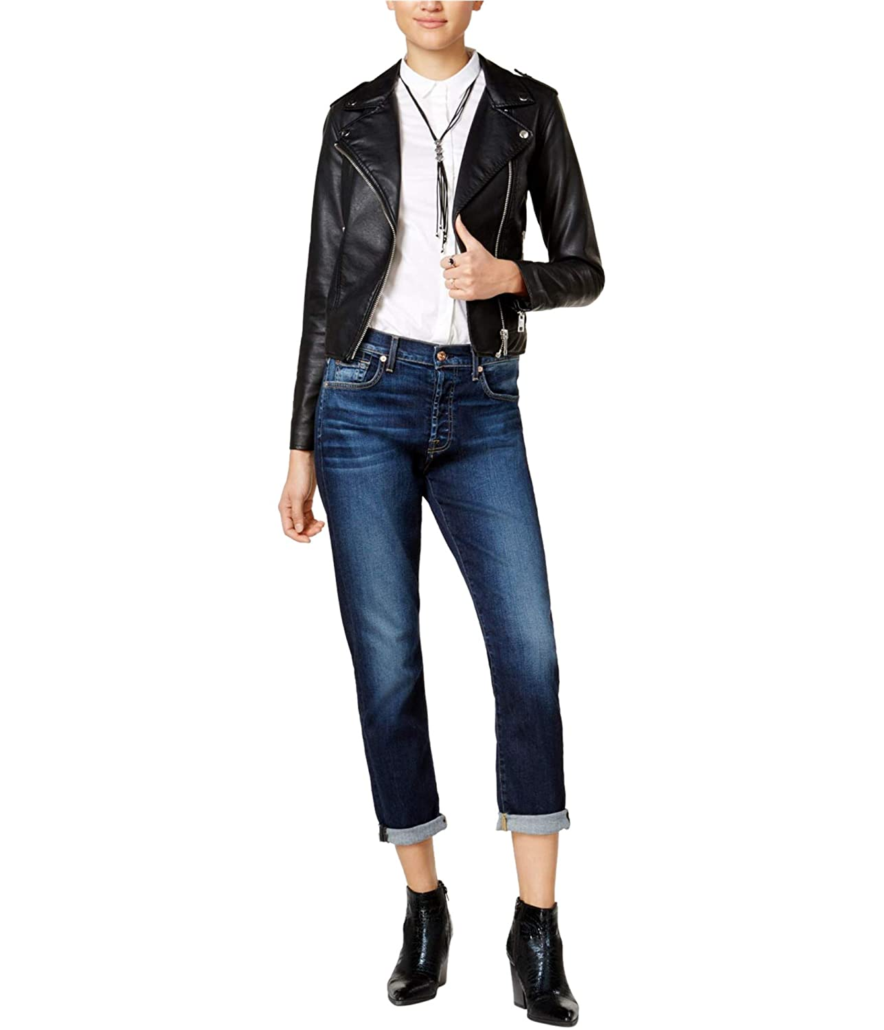 7 For All Mankind Womens High Waist Josefina Without Squiggle In Aggressive Madison Ave