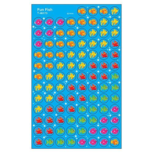 Trend Enterprises Fun Fish Super Spots Stickers (800 Piece) (Stickers Fun Fish)
