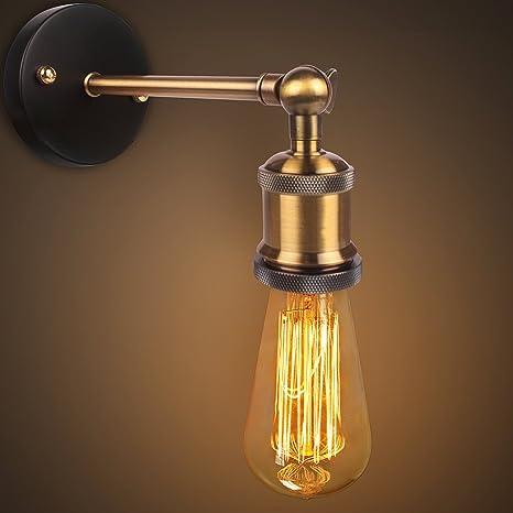 Luz a la pared de la vendimia retro Cabeza de Cobre El cobre Cabeza