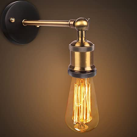 Retro wall lights industrial vintage wall lamp copper head wall sconce antique brass wall lights