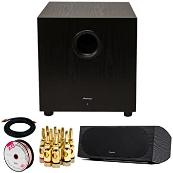 Pioneer SW-10 400W Powered Subwoofer (Black) + Pioneer Andrew Jones Designed Dual