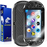 ArmorSuit MilitaryShield - Playstation Vita Slim (2014) Screen Protector + Black Carbon Fiber