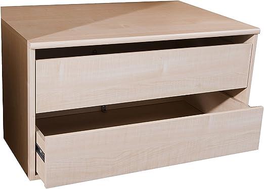 Express Mobel Schubladen Fur Kleiderschrank Elemente In 100 Cm Breite 2 Schube Fur Schwebe Und Drehturenschranke Schrankzubehor Art Nr 90060 Amazon De Kuche Haushalt