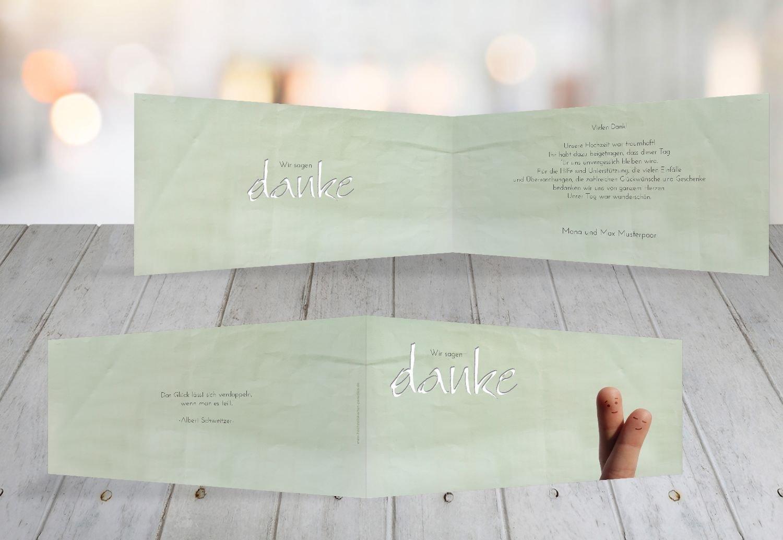 Kartenparadies Danksagung für Hochzeitsgeschenke Hochzeit Dankeskarte Fingerpaar 2, hochwertige Danksagungskarte Hochzeitsglückwünsche inklusive Umschläge   100 Karten - (Format  215x105 mm) Farbe  Hellbraun B01NAVM01U | Feinen Qualitä