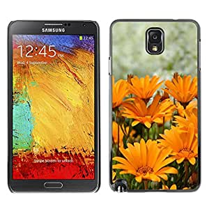 X-ray Impreso colorido protector duro espalda Funda piel de Shell para SAMSUNG Galaxy Note 3 III / N9000 / N9005 - Summer Sun Yellow Orange Flower