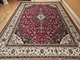 Silk Rug Red Persian Area Rug Traditional Silk Rugs Living Room Accent Rug 5×7 Rug Soft Silk Office Rugs 5×8 Carpet High End Low Pile Silk Rugs For Sale