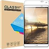 Huawei MediaPad M2 8.0 / Dtab Compact d-02H 専用 タブレット ガラスフィルム Huy 強化ガラス 保護フィルム 業界最高硬度9H/高透過率/貼り付け簡単/気泡防止/飛散防止/スムースタッチ