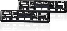 autooptimierer.de Kennzeichenhalter 2er Set Schwarz Stabil Witterungsbeständig Nummernschildhalter Pkw Kennzeichenhalterung Nummernschildhalterung (2 Stück)