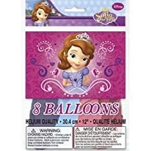 8 SOFIA THE FIRST LATEX BALLOONS Kids Birthday Party Decorations & Party Supplies