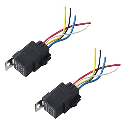 Amazon.com: HOUTBY 2Pack Universal Car Auto Heavy Duty 12V 40A SPDT on 5 pin headers, 5 pin wire diagram, 5 pin relay coil, 5 pin relay connections, 5 pin horn relay, up lights to 12v boat battery wiring, 5 pin relay testing, 5 pin relay operation, 5 pin power relay, 5 pin relay harness, 5 pin 12 volt relay, fuel pump wiring, 5 pin relay terminals,