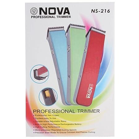 Nova Professional Rechargable Trimmer NS-216- Multicolor <span at amazon