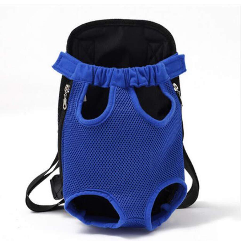 2338CM ZMXD Pet Bag, bluee Cat Dog Backpack Breathable Backpack Chest Bag Out Portable Canvas 3.5-9KG (Size   23  38CM)