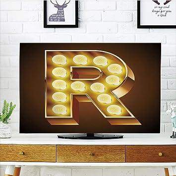 Funda para televisor LCD, Letra R, diseño de Alfabeto Antiguo de ...