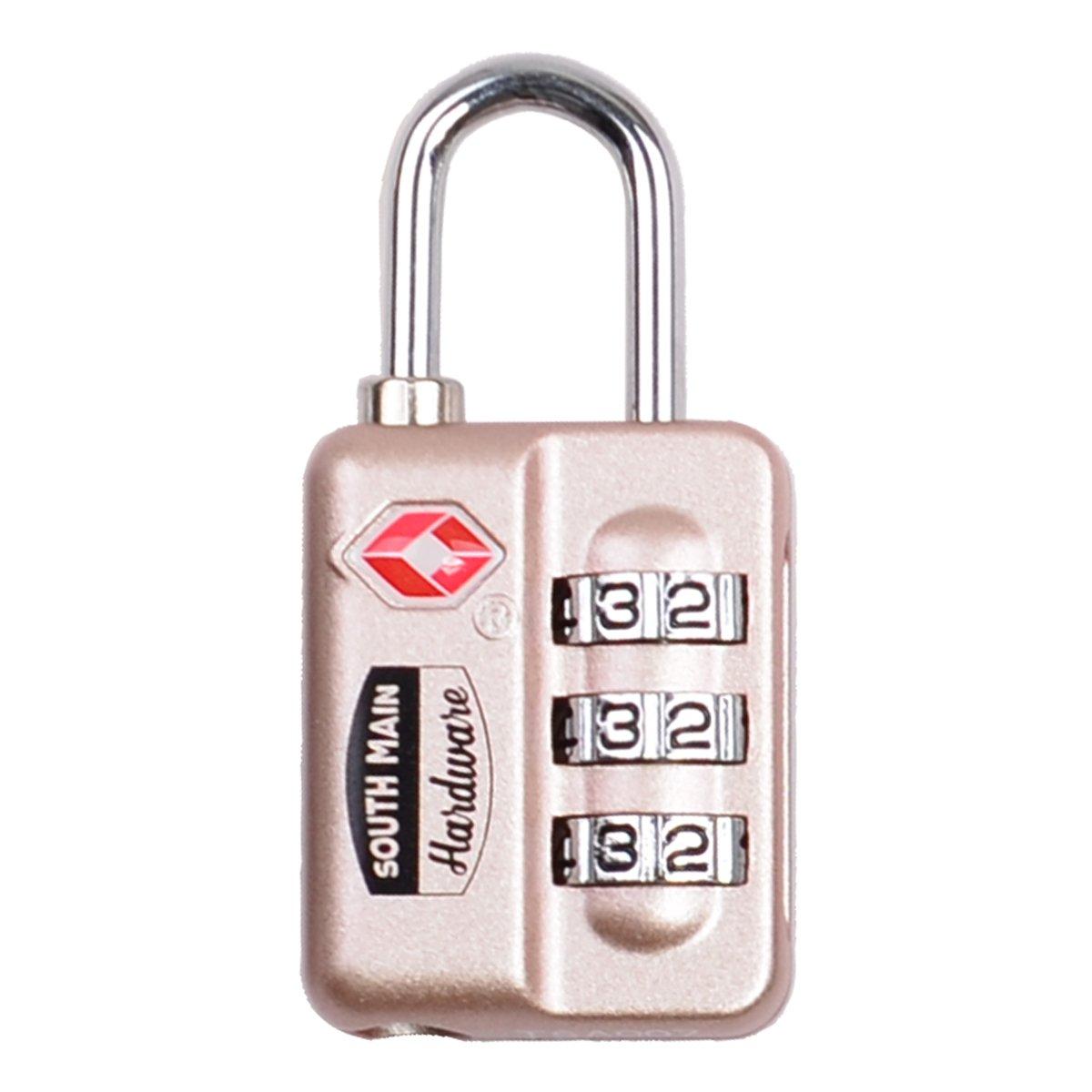 South Main Hardware TSA-Accepted Resettable Luggage Lock, Black HaoPingAn 810104