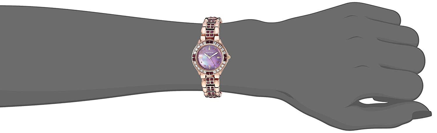 Armitron Women s Amethyst Colored Crystal Accented Goldtone Watch
