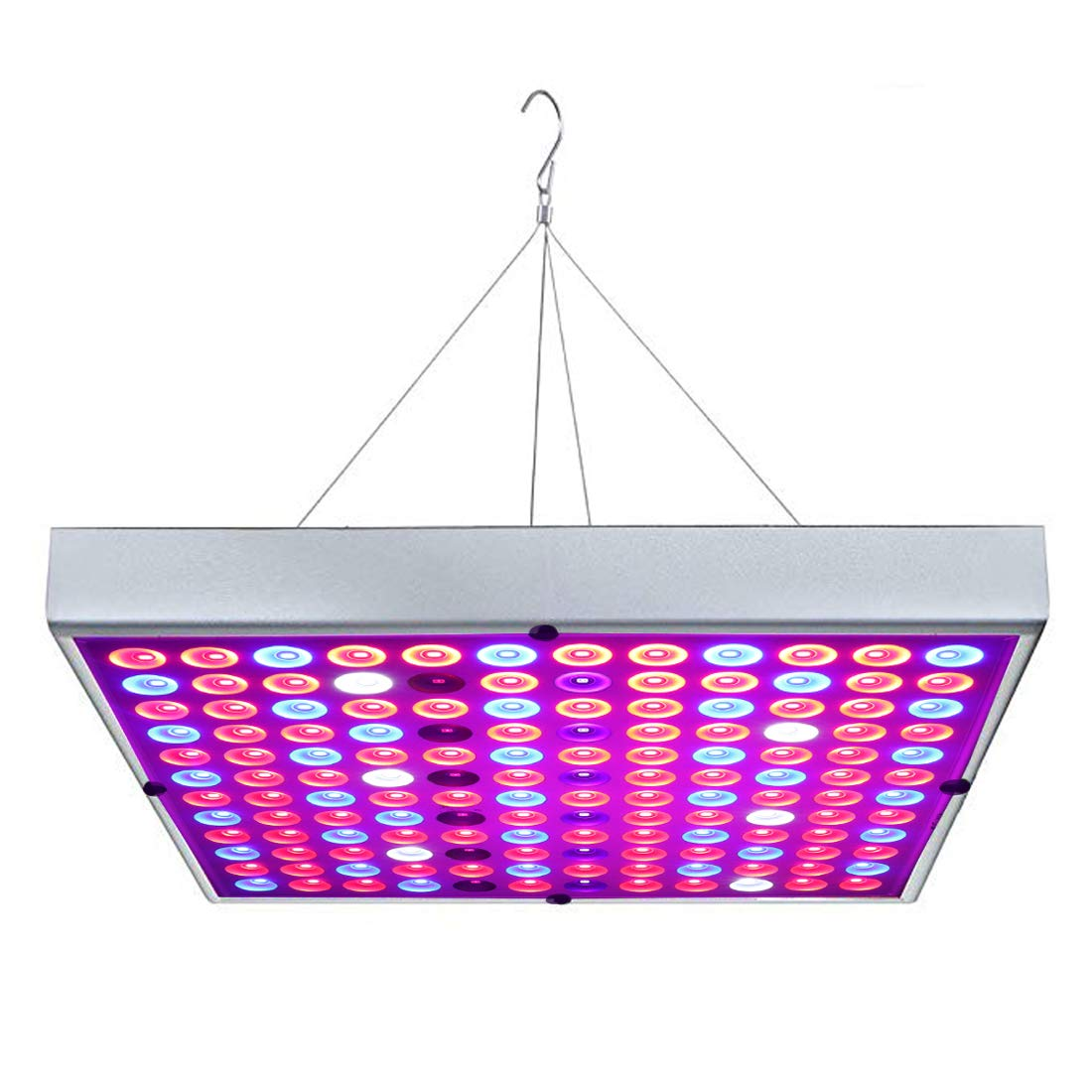 Juhefa LED Grow Light, 45W Grow Lamp Full Spectrum with IR UV Lights for Indoor Plants All Growing Stage, Garden Vegetable Flowers Fruits Succulents Seedlings