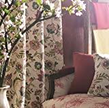 IYUEGO Japanese Print Multi Floral Grommet Top Window Curtains/Drape/Panels/Treatment 50' W x 84' L(One Panel)