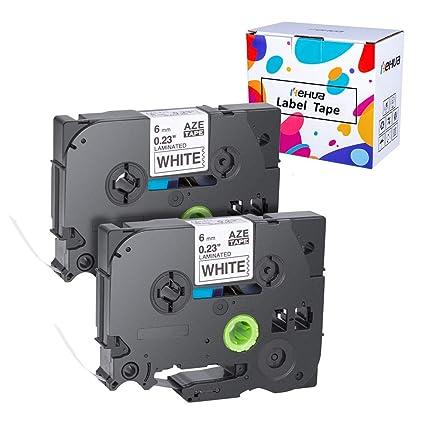 Hehua 2 X TZe-211 cinta de etiquetas compatible P-Touch para ...
