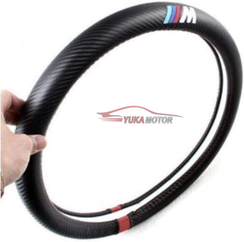 Yukamotor Funda De Volante para BMW Efecto Carbono