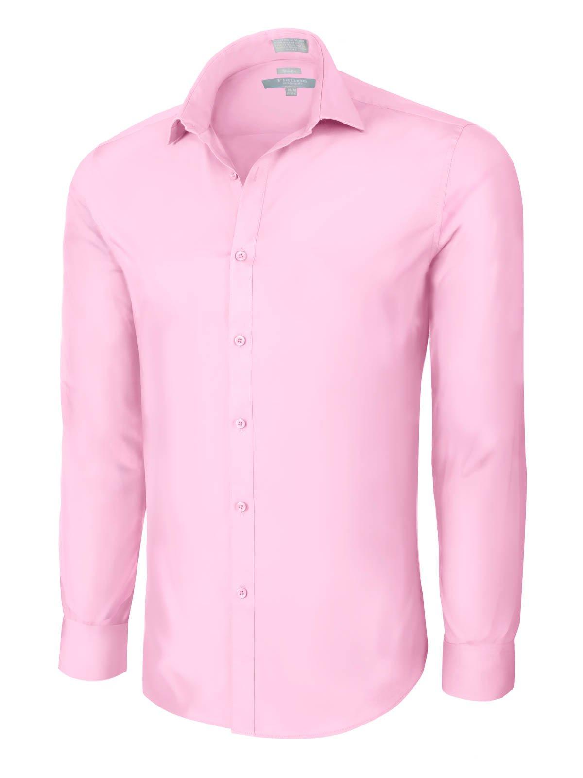 Platino de Marquis Slim Fit Cotton/Spandex Dress Shirt - Pink Small (14-14.5) 32/33 Sleeve