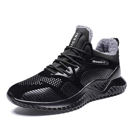 FGFKIJ Zapatos de Running para Hombre Zapatillas de Deporte Invierno cálido al Aire Libre Zapatillas Running