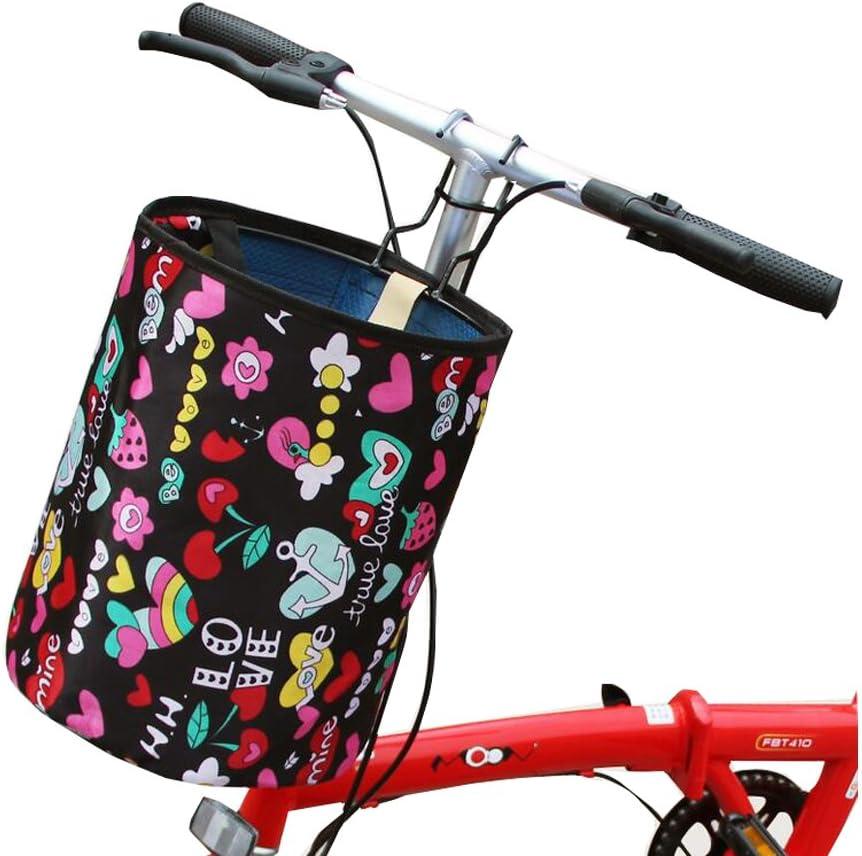 Black Temptation Cesta de Bicicleta Delantera Plegable Cesta de la ...