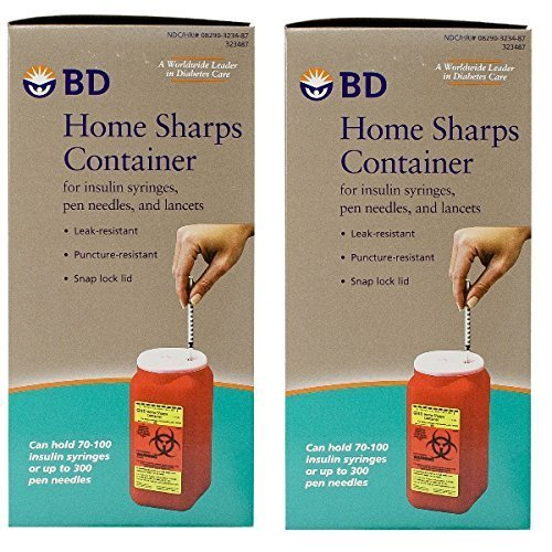 BD Home Sharps Container 1.4 qt/Each - 2 Pack by BD(Becton Dickinson)