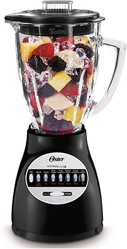 Oster bcbg08-b tazas jarra de cristal 8 velocidades licuadora ...