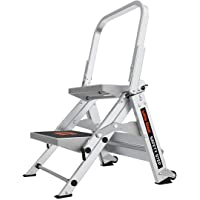 Little Giant Ladders, Safety Step, 2-Step, 2 foot, Step Stool, Aluminum, Type 1A, 300 lbs weight rating, (10210BA)