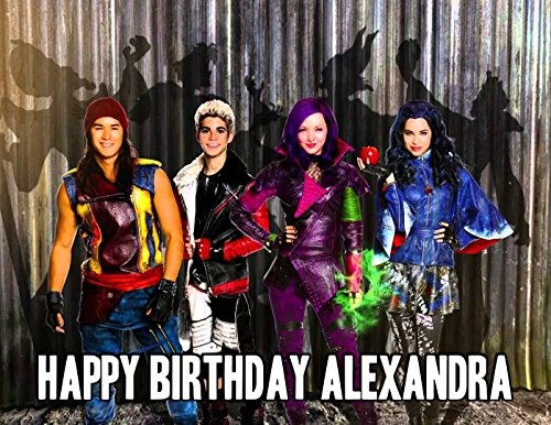 DISNEY DESCENDANTS Image Photo Cake Topper Sheet Personalized Custom Customized Birthday Party - 1/4 Sheet - 75850 (Disney Cakes And Sweets)