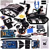 Quimat Upgrade WiFi Robot Car Kit with Mega 2560 Board, Utility Intelligent Vehicle Robotics with Video Tutorials for Arduino Included, Smart Learning & Educational DS Robot Kit for Arduino Learners