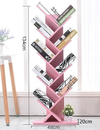 Amazon.com: Shelves Tree-shaped Bookshelf Simple Wooden Children\'s ...