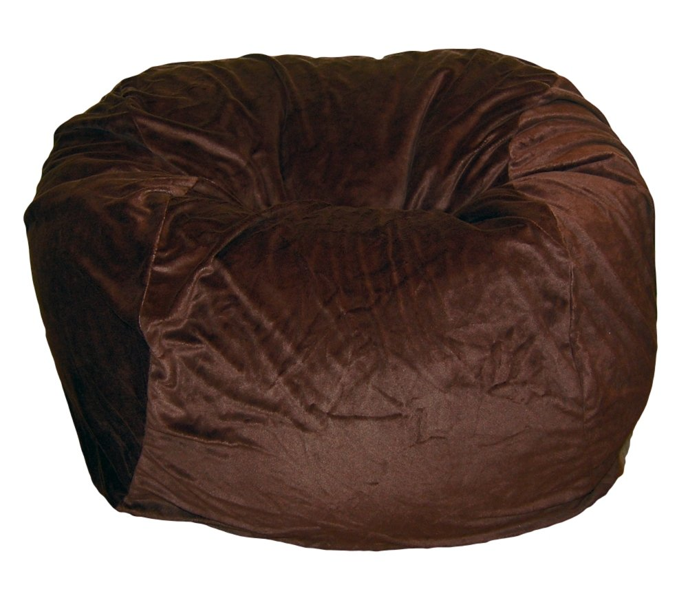 Ahh! Products Cuddle Minky Brown Washable Large Bean Bag Chair