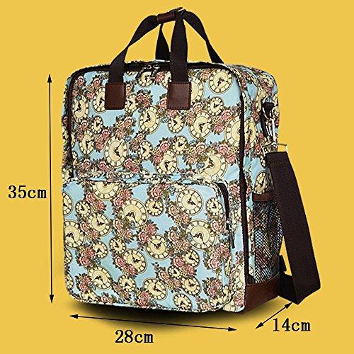 Global- 28 * 14 * 35 cm de la versión coreana mujeres embarazadas Saliendo mochila, de gran capacidad paquete de la momia, de la manera extraña de viaje esencial multifunción mochila