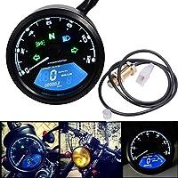 Lanceasy Odómetro Moto, LCD Digital Velocímetro De La