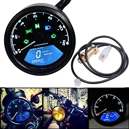 LCD Digital Velocímetro de Motocicleta Universal